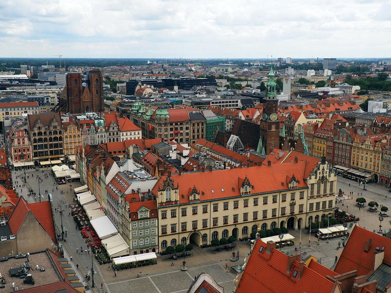 Panorama Starego Miasta i Rynku w Mieście Stu Mostów