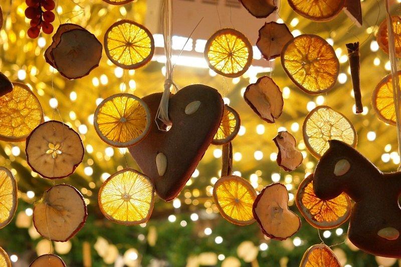 Ozdoby świąteczne - plasterki cytryny