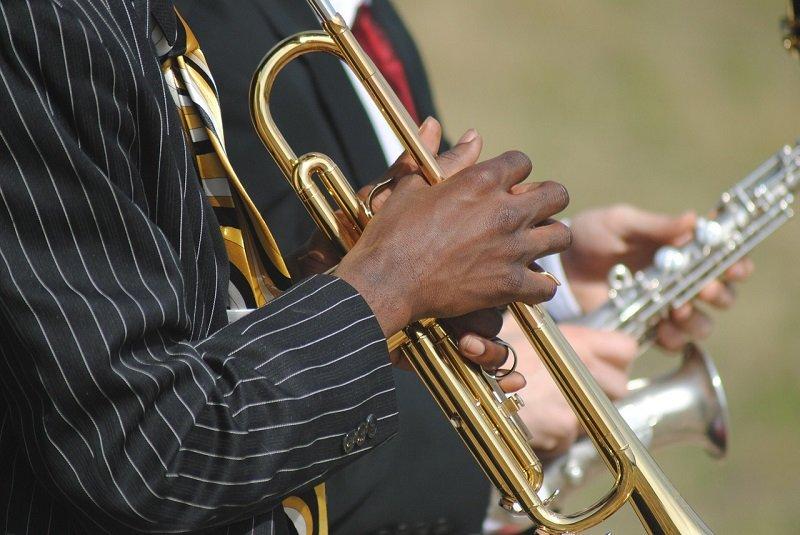 Muzyk jazzowy na koncercie